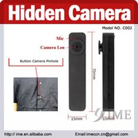 hidden camera with voice recorder - Spy Button Camera Hidden pinhole camera Mini DV DVR Voice Video Recorder drop shipping with GB GB GB GB memory in plastic bag