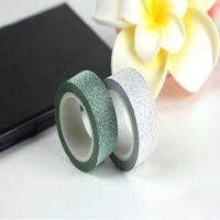 Wholesale Hot Sale Glitter Washi Sticky Paper Masking Adhesive Tape Label Craft Decorative DIY