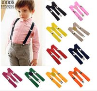 children apparel - 2015 Unisex Kids Boys Girls Clip on Suspenders with Adjustable Elastic Braces Children Apparel Accessories