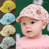 Baseball Caps baby cricket - 3 Months Baby Girls Fashion Beret Hats Child Baseball Caps Kid Peaked Hats Infant lovely Cricket Cap a217