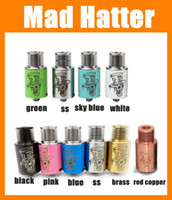 hatter - Mad Hatter RDA Atomizer Fold Drip Tips RDA Electronic Cigarette Atomizer Stainless Steel Copper Black White Mad Hatter Rda fit Mods ATB210