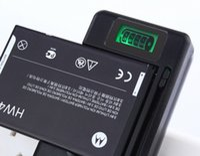 Indicador de carga de la batería Baratos-Cargador inteligente universal de la batería del indicador del LCD Para el samsung GALAXY S4 I9500 S3 I9300 NOTA 3 S5 con la carga de la salida del usb US EU AU PLUG