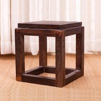 antique ottomans - Japanese Antique Wooden Stool Chair Paulownia Wood Small Asian Traditional Furniture Living Room Portable Low Stand Stool Design