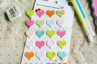 Wholesale NEW One Sheets Felt Heart Stickers DIY Scrapbooking material paper craft album decoration wedding valentine s day