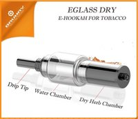 Wholesale Glass dry E HOOKAH glass globe vaporizer water pipe e shisha ecig glass shisha atomizer