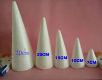 Wholesale cm high cm diameter natural white Styrofoam Cones Ornaments Balls for handmade diy crafts