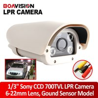 Wholesale 8 Inch TVL mm Auto Iris Lens Analog Parking Car License Plate Capture Camera With White Light Leds Waterproof Day Night