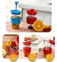 Wholesale Manual Juicer blender Manual juicer Maker DIY Mini Manual Juicer Fruit Milk Mixing Cup Juice Squeezer Kitchen Tools LJJD2919