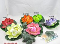 Wholesale Diameter cm Artificial in Bud Lotus Water Lily Flowers Simulation Plants Home Decoration