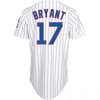 baseball blue - Cheap Baseball Jerseys Chicago Cubs Kris Bryant White Home Team Jersey Shirts Authentic Baseball Cool base Jerseys
