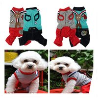 Wholesale 2015 Hot Fashion Cotton Bear Pet Suit Strap Clothing Cute Lovely Spring Dog Puppy Clothes Sizes To Choose