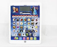Wholesale 2015 New arrived Frozen Tablet machine learning with LCD screen Frozen style Tablet toys Computer educational TOY for Kids wtih musice M147