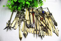 metal Key LOL 2015 new Mix Order LOL Champions Weapon Sword League of Legends Zinc Alloy Keychains Exquisite Anime Accessories Key Ring Chain 12cm