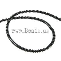 magnetic hematite jewelry - 10Strands Womens Jewelry Rondelle black Grade A x2mm Hole Approx mm Length Inch Magnetic Hematite Beads DIY Findings