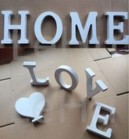 wood letters - A Z Letters Home Decor Decoration thick Wood Wooden White Letters Alphabet Wedding Birthday X10 X1 cm