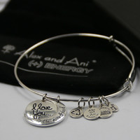 Wholesale Different Quantity New arrive Alex and Ani bangles with charms mm fashion bangles with free box and bag