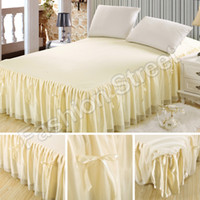 Wholesale Bedding Sets European Princess Butterfly Knot BedSkirts bedspread Mattress Cover Full Queen King Size