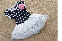 korea fashion - Summer Dress Girls short sleeve Polka Dot Flower Dress Cheap Fashion Korea Children s Dancewear Princess Party Dresses Tutu Skirt