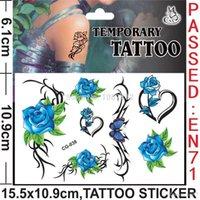 baby gi - 2015 New Rose Flower Blue Red Cartoon Temporary Tattoos kits Stickers Body Stickers For Women Men Children Baby Boy Girls Children s Gi