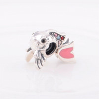 Cheap Muticolor Stones Eurasian Carp Authentic 925 Sterling Silver Charm Jewelry Fine Charming Star YZ086 charm marketing