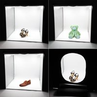 photo box - 2PCS LED Professional Portable Softbox Box cm LED Photo Photography Studio Video Lighting Tent with LED Light D1722