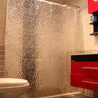 Wholesale Transparent D EVA Shower Curtains Water Cube Design Curtain Bathroom Waterproof Fabric Inch
