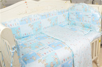 Wholesale 2016 Hot Sale Baby Bed Sheet Kits Cotton Bedding In The Crib Many Patterns Baby Cot Bedding Full Set Sizes Bumper Cot Set
