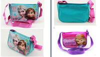 Wholesale 2015 new children s FROZEN Elsa Anna fashion bags children Elsa Anna cartoon shoulder bag Sofia Messenger bag Children shopping bag