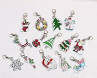 Wholesale Christmas theme Dangle Charms for Glass Living Locket Silver