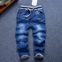 Wholesale new T Spring boy jeans autumn cotton children thick warm child denim pants winter children trousers