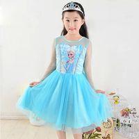 Wholesale Hot Frozen Dress Elsa For Girl Princess Cosplay Dresses Cartoon Red Cape Brand Girls Children Clothes Kids A