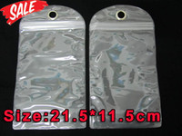 Wholesale Waterproof PVC Zipper Plastic Retail cm bag Packaging Package For Iphone samsung galaxy S3 S4 S5 HTC One hard Leather cases