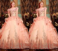athena lighting - Orange Athena Appliques Floral Prom Dresses Puffy Cascading Ruffles Organza Lace Appliques Beading Dresses Party Evening Pageant Gowns