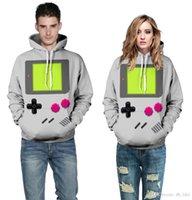 belt printing machine - Harajuku D game machine print sport sweatshirt for sudaderas mujer autumn style casual hoodies jogging Hoody couple hooded