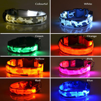 Wholesale New Pet Supplies Pets Dog LED Lights Leopard Flash Night Safety Waterproof Collar Adjustable N0007 SUP5