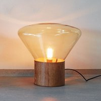 amber table lamp - Modern Brokis Muffins Table Lamp Creative Clear Smoky Amber Glass Table Lamp Living Room Bedside Lamp Office Light