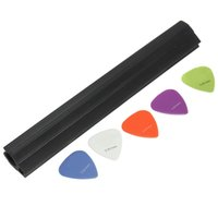 Wholesale Black Plastic Mic Microphone Stand Guitar Holder mm Pick Slide Plectrum Convenience Storing
