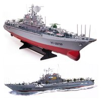 toy rc aircraft - 1 Scale CH RC Aircraft Carrier HT A Large Remote Control Boat High Speed RC Toys