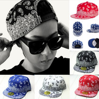 Wholesale New Unisex Adjustable Vintage Hippie Hip Hop Flat Bill Snapback Baseball Hat Cap
