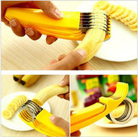 Wholesale Kitchen Tools Banana Slicer Gadgets Strawberry Stem Remover Egg Cutter