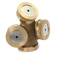 agricultural nozzles - 3 Heads Brass Agricultural Mist Spray Nozzle Sprinkler Garden Watering Roof Cooling Lawn Irrigation System