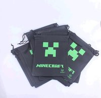 Wholesale minecraft Creeper boy bags received bag JJ Wallet Purse Movies kids Toys Gifts kids creeper cartoon phone bag