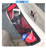 Wholesale multi function Car Seat Side Back Net Storage Bag Car Storage Pocket Backseat Hanging Storage Bags car Waterproof fabric Organizer