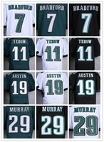 eagles football jerseys - Connor Barwin DeMarco Murray Sam Bradford Kiko Eagles American Football Jerseys Green Black