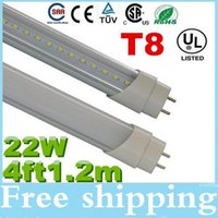 Wholesale Super Bright ft T8 W Led Tubes Light lm Warm Natrual Cold White AC110 V Best Replace m Fluorescent Tube Lamp Warranty Years
