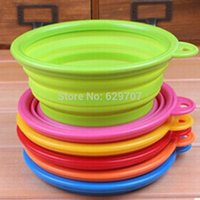 Wholesale Collapsible Travel Dog Cat Bowl Hot Sale New Portable Feeding Dish Small Pet Supplies