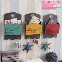 bamboo magazine rack - Nostalgic vintage magazine rack bar wall decoration box MDF wall hanging storage holders racks pc