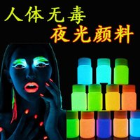 acrylic body paint - g Phosphorescent pigment Luminous body paint acrylic paints Fluorescence body painting flash tattoo
