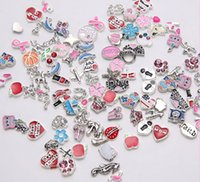 Cheap Alloy Floating Locket Charms Best Pink Coin Mixed Styles Floating Charms
