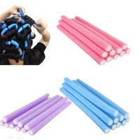 Wholesale Hot Sales set Hairstyle Curler Rollers Stick Spiral Curls Tool DIY Bendy Hair Styling Foam Sponge Mixed Colors DH5
